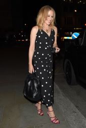 Kylie Minogue in a Polka Dot Dress - The Ritz Hotel in London 09/21/2020