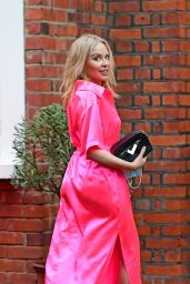 Kylie Minogue in an Electric Pink Silk Outfit - South London 09/24/2020