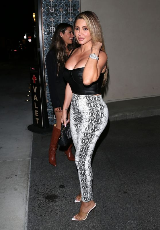Larsa Pippen Night Out Style - Olivetti Restaurant in West Hollywood 09/18/2020