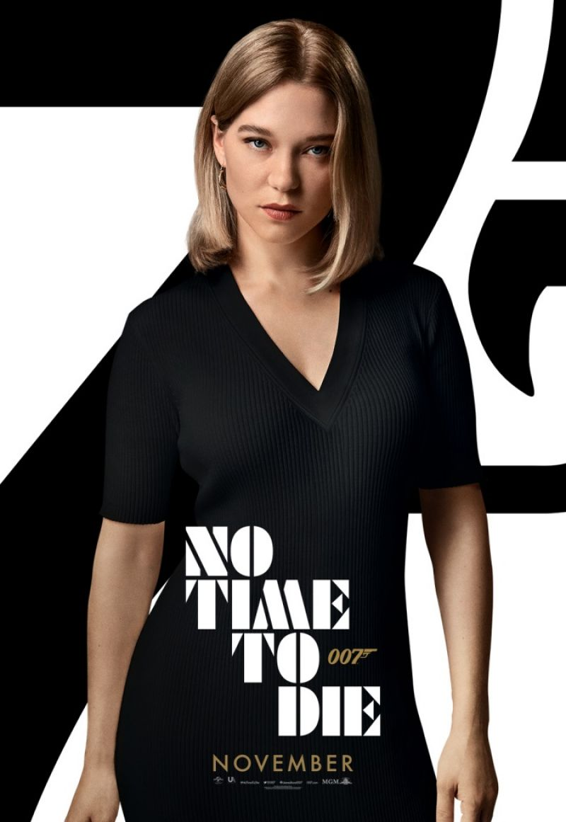 "léa seydoux - ""no time to die"" posters"