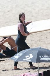 Leighton Meester - Surfing With Her Husband in Malibu 09/23/2020