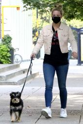 Lili Reinhart - Walking Her Dog in Vancouver 09/11/2020