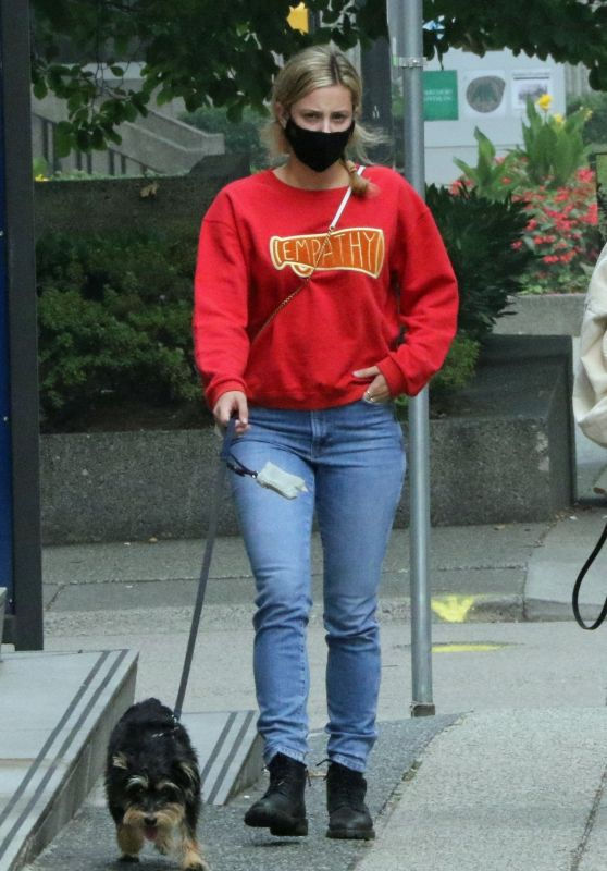 Lili Reinhart - Walking Her Dog in Vancouver 09/13/2020