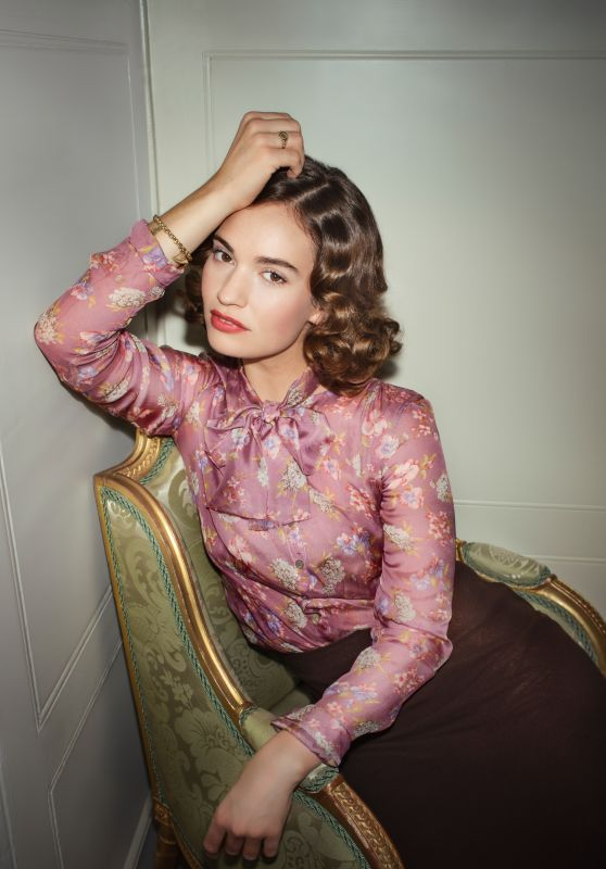 Lily James - Photoshoot for Vogue September 2020