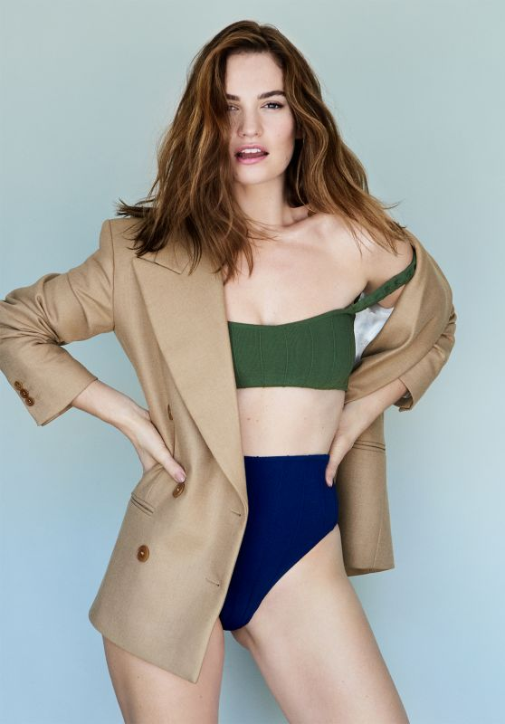 Lily James - Shape Magazine September 2020