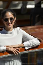 Linda Caridi - Arrives for 77th Venice Film Festival