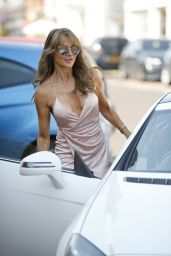 Lizzie Cundy in a Plunging Wrap Dress - Hampshire  09/15/2020