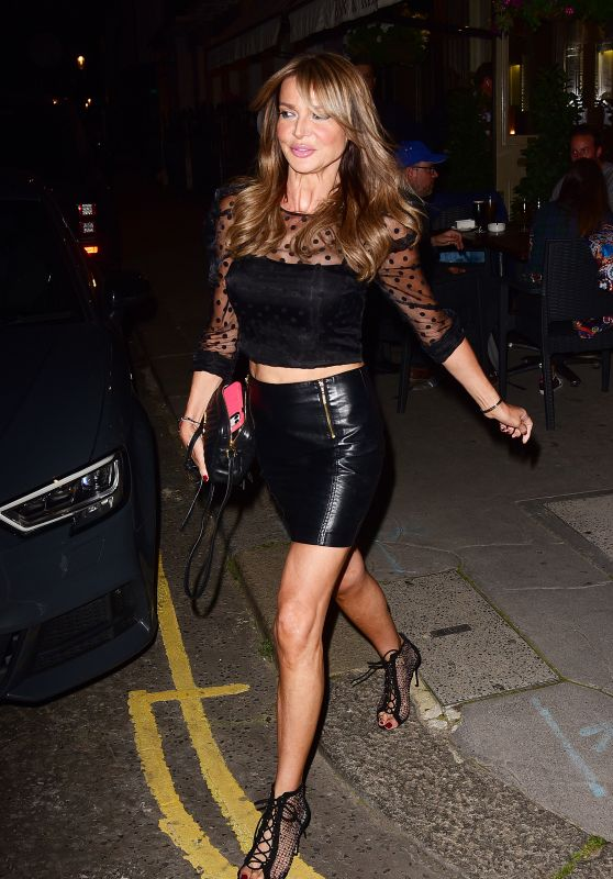 Lizzie Cundy Night Out Style - Heads to La Famiglia in Chelsea 09/08/2020