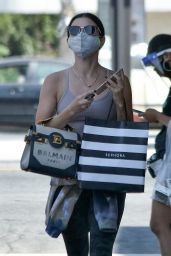 Lucy Hale - Exiting Sephora Store in Studio City 09/04/2020