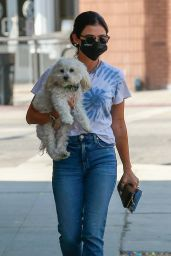 Lucy Hale in Casual Outfit at the Westfield Fashion Square in Sherman Oaks 09/27/2020