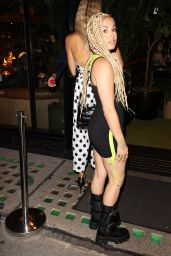 Mabel in a Kangol Mini Dress - Night Out in London 09/04/2020
