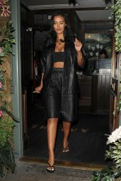 Maya Jama Night Out Style - Leaving The Ivy Garden Restaurant in Chelsea 09/14/2020