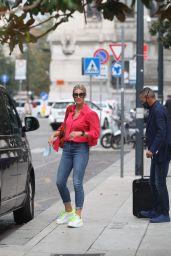 Michelle Hunziker Street Style - Milan 09/21/2020