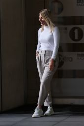 Mollie King in High Waist Pants and Tight Wight Pullover - London 09/25/2020