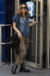 Myleene Klass Arriving at the Global Radio Studios in London 09/02/2020