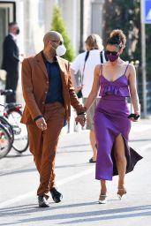 Nathalie Emmanuel and Alex Lanipekun Arriving at the 77th Venice Film Festival