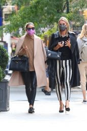 Nicky Hilton and Olivia Palermo at Sant Ambroeus in NYC 09/16/2020