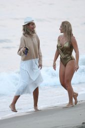 Nikki Lund and Lady Victoria Hervey on the Set of Her Music Video Shoot 09/21/2020