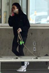 Nina Dobrev in Travel Outfit - Vancouver Airport 09/11/2020