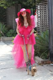 Phoebe Price in Pink Ahead of her 47th Birthday in LA 09/26/2020