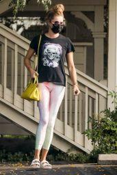 Rebecca Romijn in Spandex - Leaving a Spa in Malibu 09/15/2020