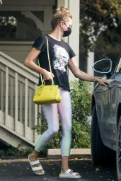 Rebecca Romijn in Spandex - Leaving a Spa in Malibu 09/15/2020