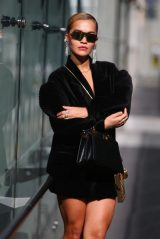 Rita Ora - Arrives at the Fendi Fashion Show in Milan 09/23/2020