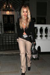 Rita Ora Night Out Style - London 09/04/2020