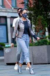 Sarah Jessica Parker Street Style - SJP Collection Shoe Store in NY 09/23/2020