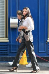 Shanina Shaik - Leaving Lunch at Scallini