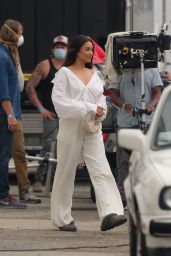 Shay Mitchell - REVLON Commercial Set in LA 09/10/2020