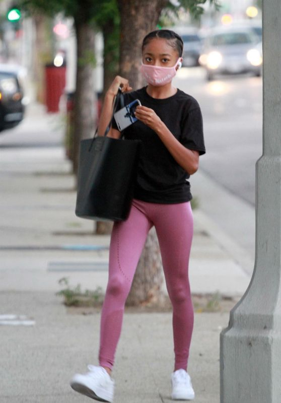 Skai Jackson - Arriving for Practice at the DWTS Studio in LA 09/25/2020