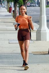 Skai Jackson in Workout Outfit - Los Angeles 09/16/2020