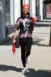 Skai Jackson - Leaving Her Dance Practice at the DWTS Studio in LA 09/20/2020