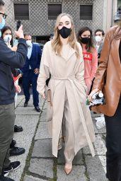 Suki Waterhouse - Arriving at the Boss Fashion Show in Milan 09/25/2020