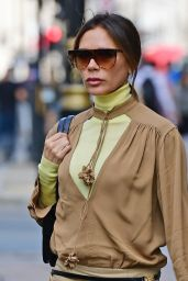 Victoria Beckham Looking Stylish - Leaving Wolsley Restaurant in Central London 09/22/2020