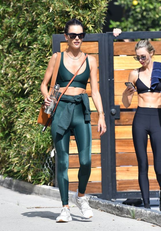 Alessandra Ambrosio - After a Workout in Brentwood 10/20/2020