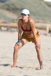 Alessandra Ambrosio at the Beach in Santa Monica 10/03/2020