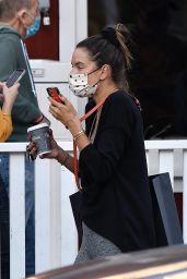 Alessandra Ambrosio Chats on Her Phone - LA 10/28/2020