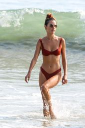 Alessandra Ambrosio in a Bikini at a Beach in Santa Monica 10/17/2020