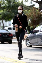 Alessandra Ambrosio in Tight Leggings - Beverly Hills 10/08/2020