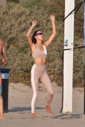 Alessandra Ambrosio - Volleyball Practice at the Beach in Santa Monica 10/02/2020