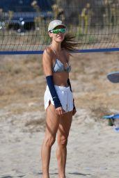 Alessandra Ambrosio – Volleyball Practice at the Beach in Santa Monica 10/09/2020