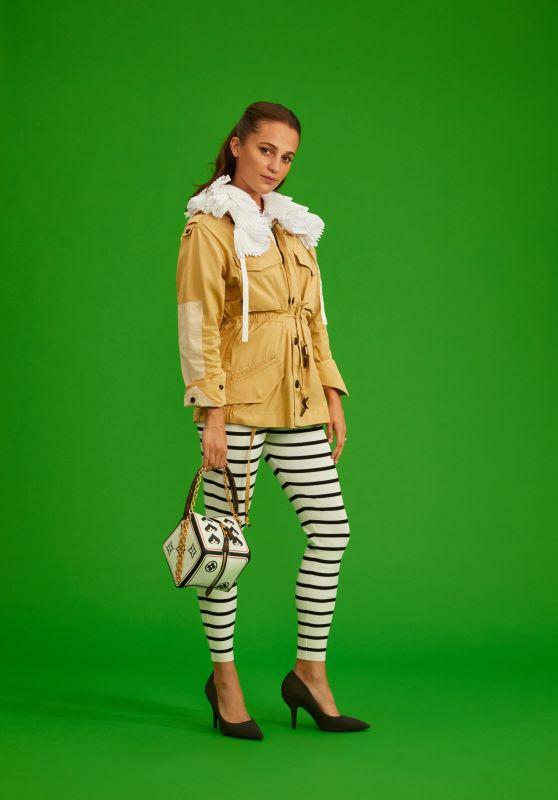 Alicia Vikander - Louis Vuitton Paris Fashion Week Portrait 10/07/2020