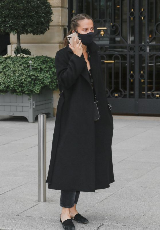 Alicia Vikander Style - Leaving Her Hotel in Paris 10/08/2020