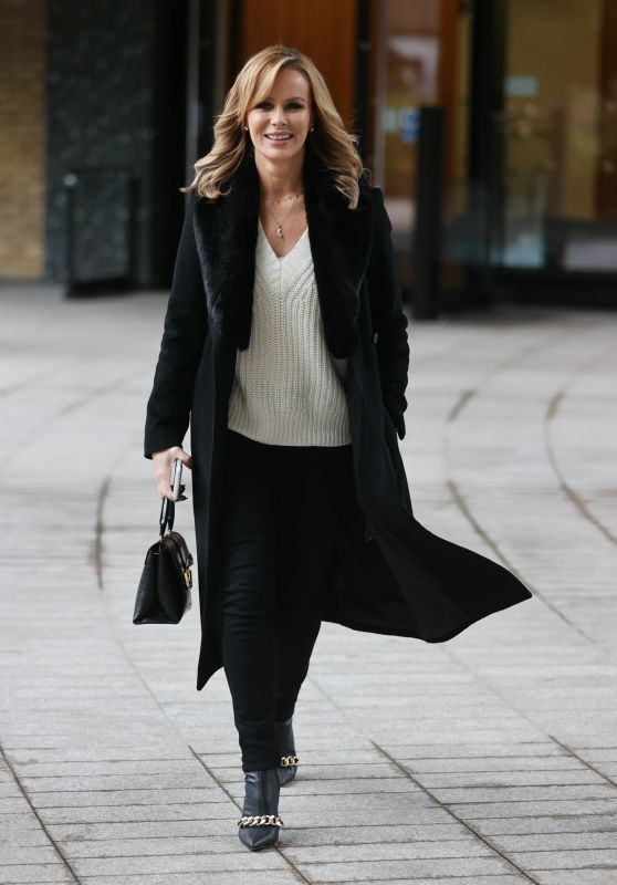 Amanda Holden in a Chic Jacket and Jumper - Sunday Brunch TV in London 10/04/2020