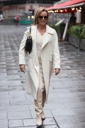 Amanda Holden Looks Stylish in a Cream Dress and Coat - London 10/07/2020