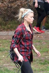 Amber Heard - Hiking in Los Feliz 10/25/2020