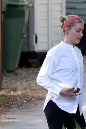 Amber Heard on a Hike in LA 10/08/2020