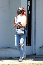 Ashley Benson Displays New Hair Color - Shopping in West Hollywood 10/14/2020